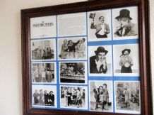 "LARGE FRAMED GLAZED MARX BROTHERS COLLECTION 12 GREENWOOD POSTCARDS 23.5"" X 21"""
